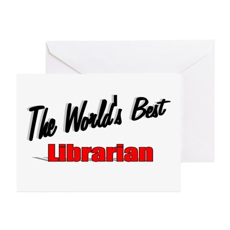 """The World's Best Librarian"" Greeting Cards (Pk of"