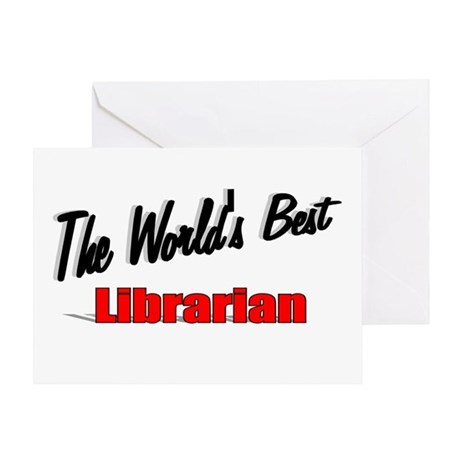 """The World's Best Librarian"" Greeting Card"