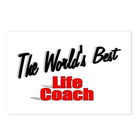 &quot;The World's Best Life Coach&quot; Postcards (Package o
