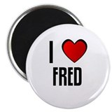 "I LOVE FRED 2.25"" Magnet (100 pack)"