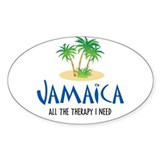 Jamaican Therapy - Oval Decal