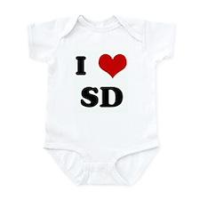 I Love SD Infant Bodysuit