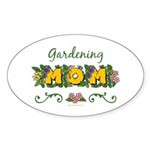 Gardening Mom Gardener Oval Sticker (50 pk)