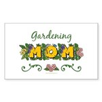 Gardening Mom Gardener Rectangle Sticker 10 pk)