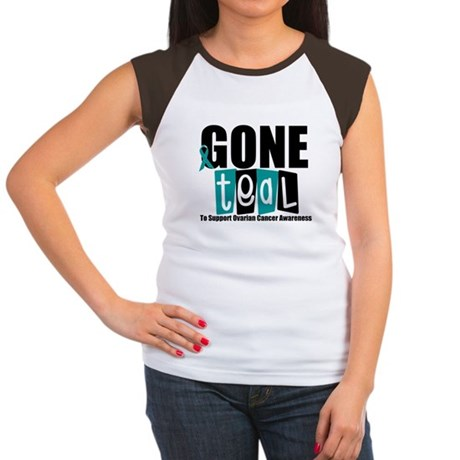 Gone Teal Ovarian Cancer Women's Cap Sleeve T-Shir