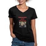 geology gifts t-shirts Women's V-Neck Dark T-Shirt