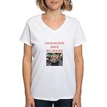 geology gifts t-shirts Women's V-Neck T-Shirt