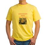 geology gifts t-shirts Yellow T-Shirt