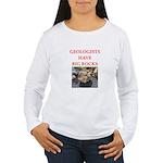 geology gifts t-shirts Women's Long Sleeve T-Shirt