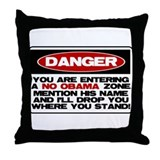 No Obama Zone Throw Pillow