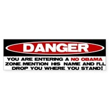 No Obama Zone Bumper Bumper Sticker