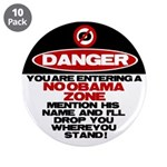 "No Obama Zone 3.5"" Button (10 pack)"