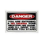 No Obama Zone Rectangle Magnet (10 pack)