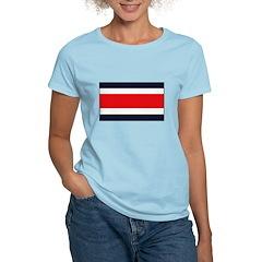 Costa Rican Flag Women's Light T-Shirt