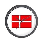 Danish / Denmark Flag Wall Clock