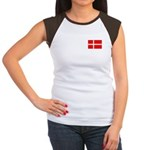 Danish / Denmark Flag Women's Cap Sleeve T-Shirt