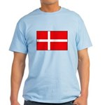 Danish / Denmark Flag Light T-Shirt