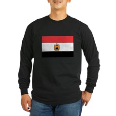 Egyptian Flag Long Sleeve Dark T-Shirt