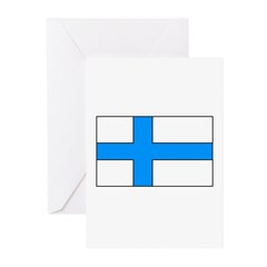 Finnish Flag Greeting Cards (Pk of 20)