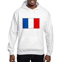 French Flag Hooded Sweatshirt