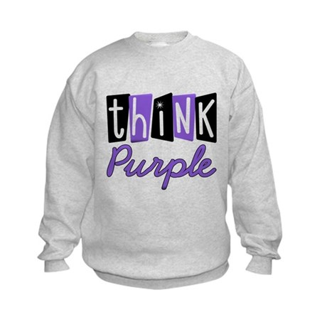 Think Purple Kids Sweatshirt