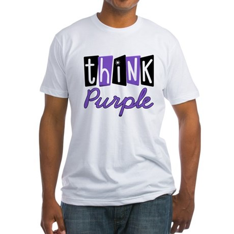 Think Purple Fitted T-Shirt