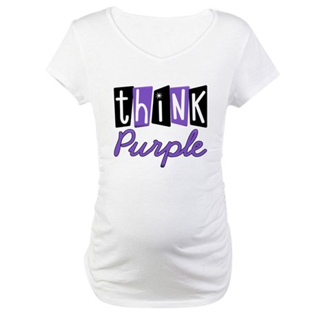 Think Purple Maternity T-Shirt