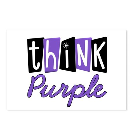 Think Purple Postcards (Package of 8)