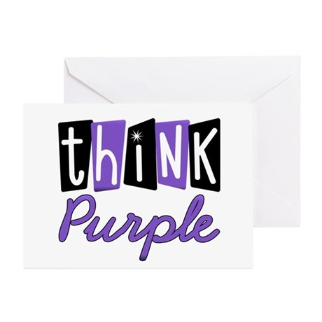 Think Purple Greeting Cards (Pk of 10)