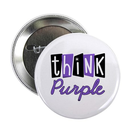 "Think Purple 2.25"" Button"