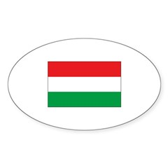Hungarian Flag Oval Sticker (50 pk)