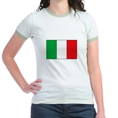 Italian Flag Jr. Ringer T-Shirt