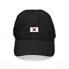 Korea Flag Black Cap