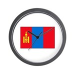 Mongolian Flag Wall Clock