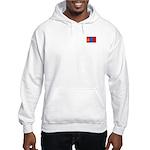 Mongolian Flag Hooded Sweatshirt