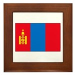 Mongolian Flag Framed Tile