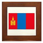 Mongolian Flag Framed Tile