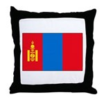 Mongolian Flag Throw Pillow