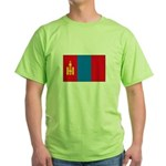 Mongolian Flag Green T-Shirt