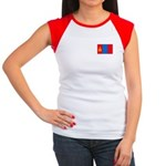 Mongolian Flag Women's Cap Sleeve T-Shirt
