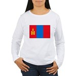 Mongolian Flag Women's Long Sleeve T-Shirt