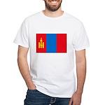 Mongolian Flag White T-Shirt