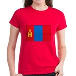 Mongolian Flag Women's Dark T-Shirt