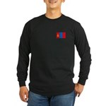 Mongolian Flag Long Sleeve Dark T-Shirt