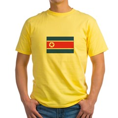 North Korean Flag Yellow T-Shirt