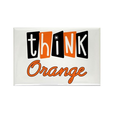 Think Orange v2 Rectangle Magnet