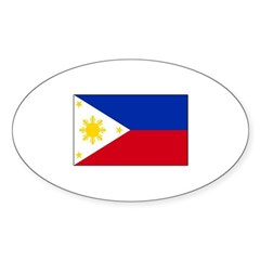 Philippines Flag Oval Sticker (50 pk)