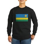 Rwanda Flag Long Sleeve Dark T-Shirt