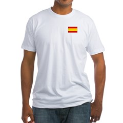 Spanish Flag Fitted T-Shirt
