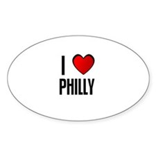 I LOVE PHILLY Oval Decal